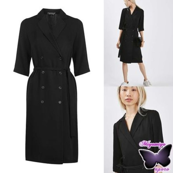 国内発送☆TOPSHOP★Double Breasted Wrap Dress