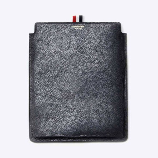 THOM BROWNE LEATHER I PAD CASE