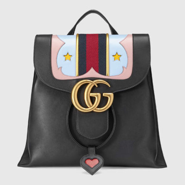 GUCCI★GGマーモントleather backpack 直営店買付★ポンド安還元
