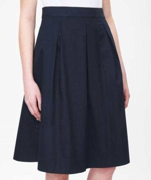 """COS""FLARED COTTON SKIRT Navy"