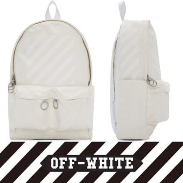 2016! 即完売! Off-White Canvas Diagonals Backpack