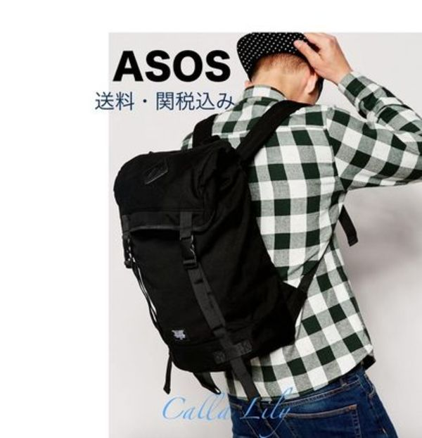 ASOS★キャンパスバックパック 送料・関税込み