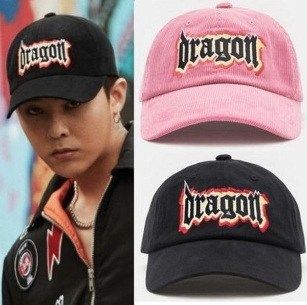 8SECONDS x G-DRAGON DRAGON GRAPHIC CAP ピンク ブラック