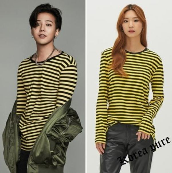 【8 X G-Dragon】Yellow border t -shirt GD Collaboration