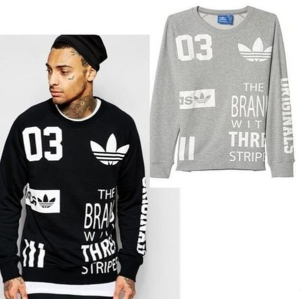 ADIDAS MEN'S ORIGINALS☆ロゴスウェット LOGO SWEAT2色