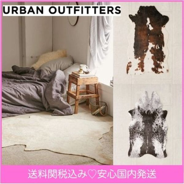 【送料関税込】Urban Outfitters☆vegan leather ラグ  3種