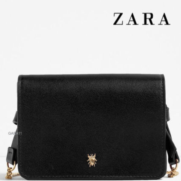 ●ZARA●夏新作♪CROSSBODY BAG WITH DETAIL♪Black