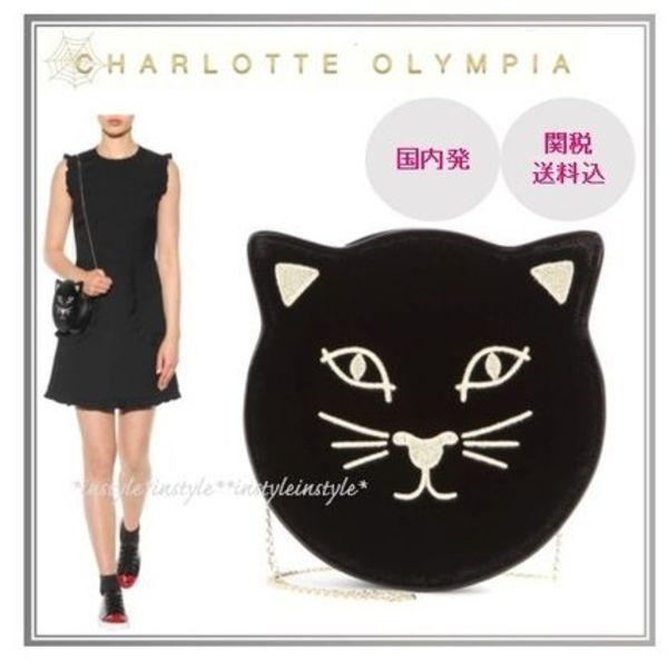 送込*セレブ愛用Charlotte Olympia Pussycat Shoulder/Crossbody