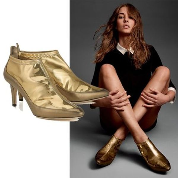 Jimmy Choo ジミーチュー Metallic Gold Stretch ブーティー