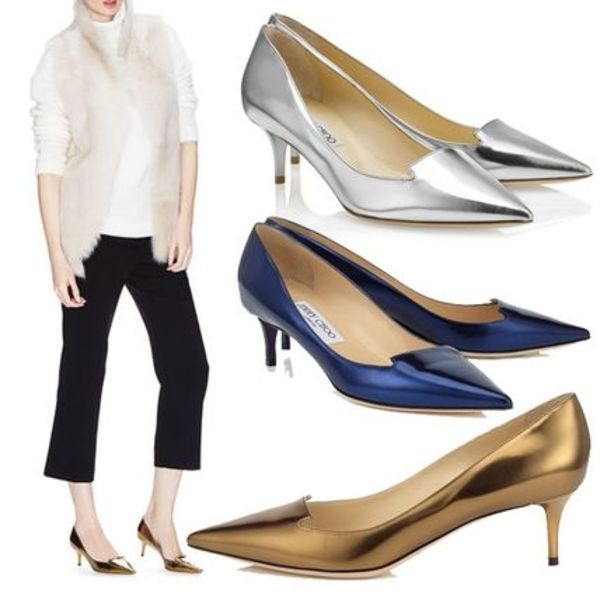 Jimmy Choo ジミーチュウ ALLURE Mirror Leather Pointy Toe