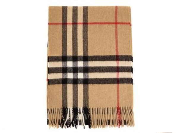 BURBERRY カシミアマフラー 3929522 GIANT ICON CAMEL CHECK