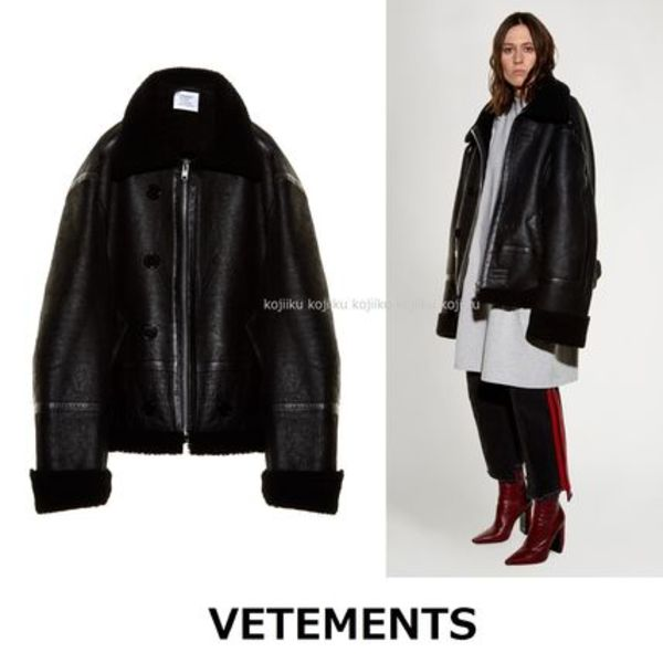 ▽国内発送・関税込▽VETEMENTS▽Oversized shearling jacket