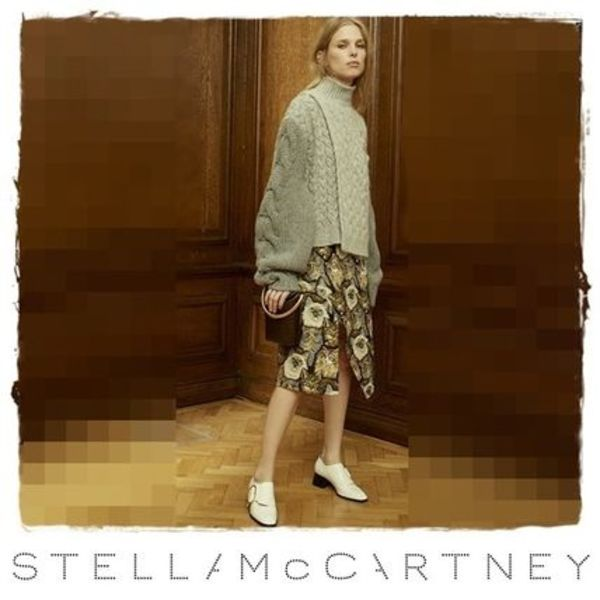 ★16-17AW新作 Stella McCartney Multicolor Cat Jacquard Skirt