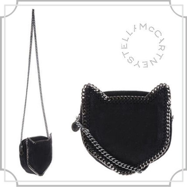 送料関税込■Falabella cat crossbody bag in Shaggy Deer-BLACK