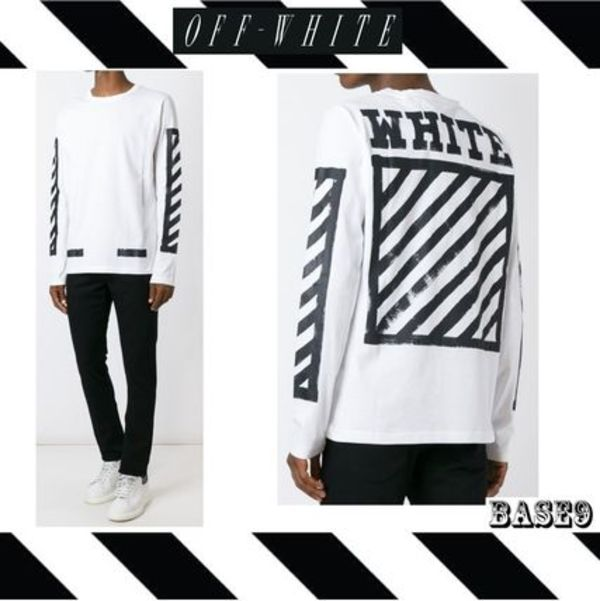 2016FW新作OFF-WHITE☆ W ☆BRUSHED LONG TTEE 【関税送料込み】
