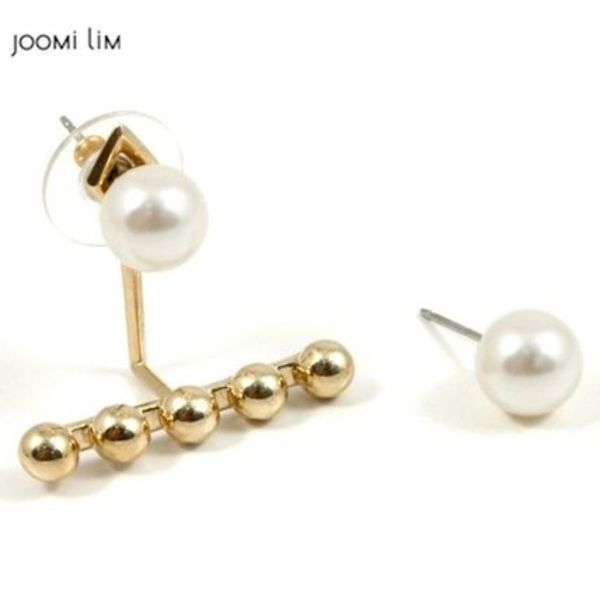 Joomi Lim☆Dot And Dash Pearl Stud Earrings W☆ピアス