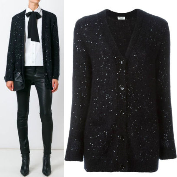 16-17AW WSL886 SEQUIN EMBELLISHED CARDIGAN