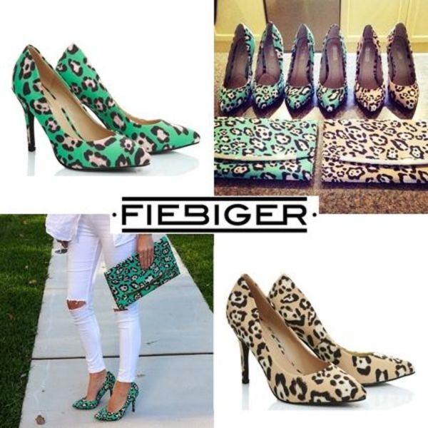 AUS発★Fiebiger Shoes★カラフルレオパードプリント ハイヒール