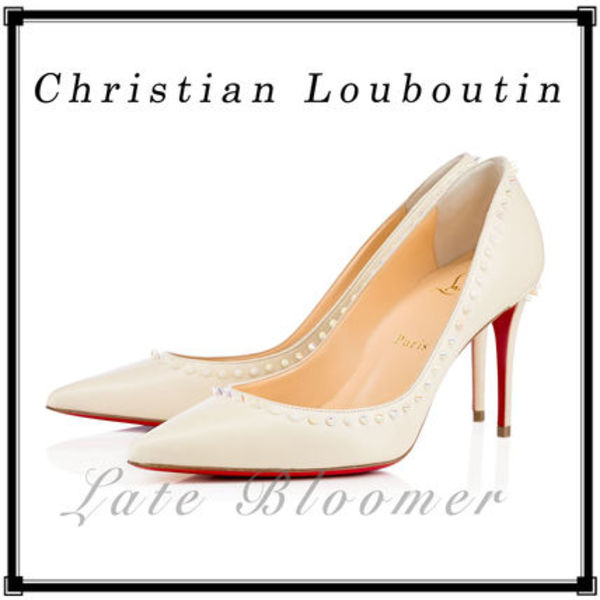 ★送料込★【Christian Louboutin】Anjalina Kid 85mm ホワイト