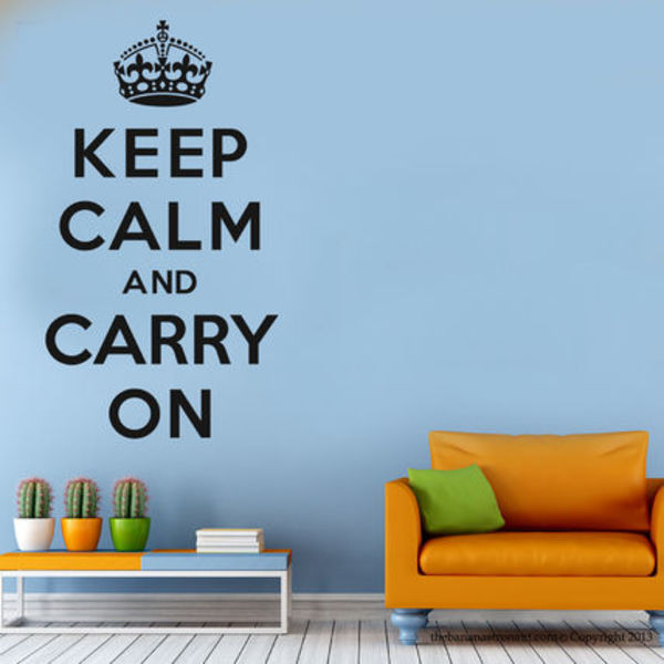 Keep Calm and Carry On☆ウォールステッカー/Wall Sticker