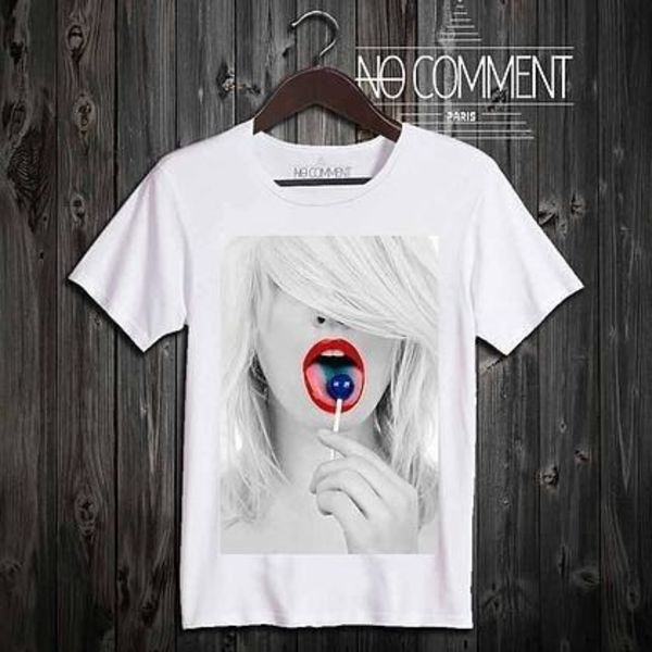 ★セクシーTシャツ★NO COMMENT Paris★blue lollipop