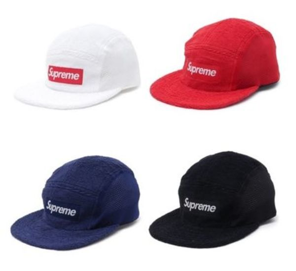 在庫有り★送料込★Supreme Terry Mesh Side Panel Camp Cap 5色