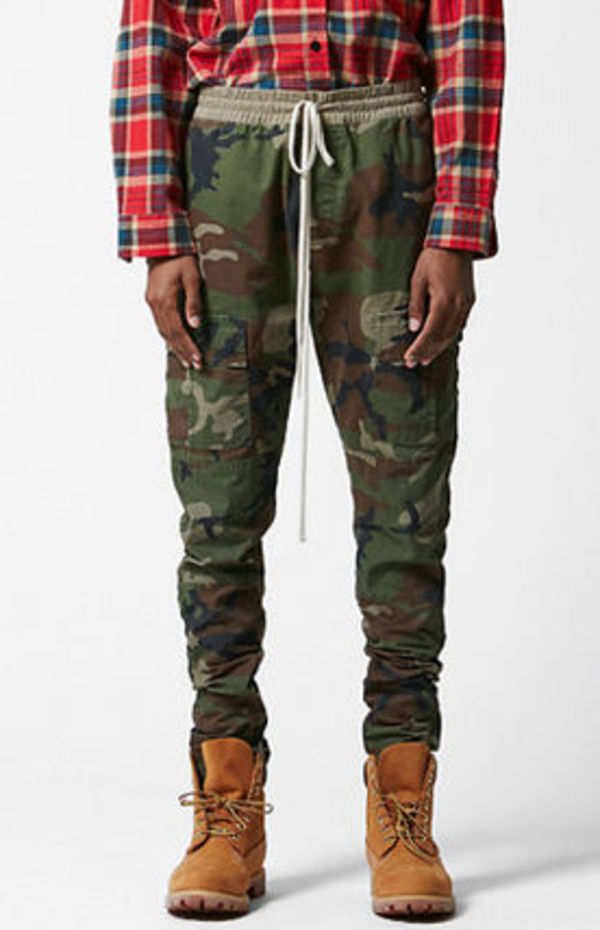 SS16 FOG FEAR OF GOD CAMO DRAWING PANTS S-XL 送料無料 カモ