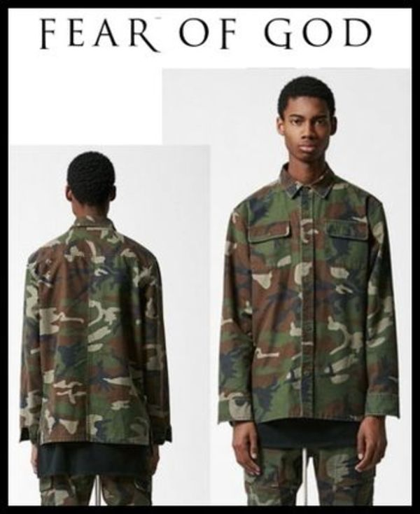 FOG_FEAR OF GOD CAMOUFLAGE SHACKET CAMO【関税送料込】