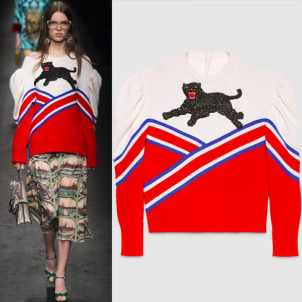 16-17AW WG167 LOOK14 EMBELLISHED SWEATER