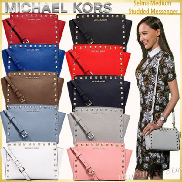 【日本未入荷】MICHAEL Kors Selma Medium Messenger スタッズ