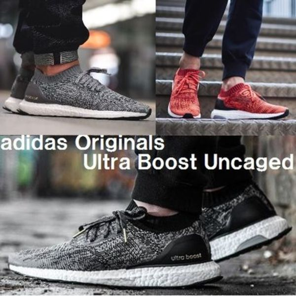 新モデル★adidas Originals ultra boost uncaged★黒&赤&灰