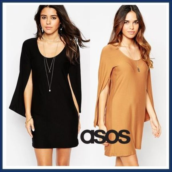 ☆ASOS☆Cape Sleeves Tシャツワンピース