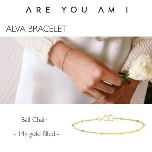 【ARE YOU AM I】ALVA ブレスレット★ Ball / 14k gold filled