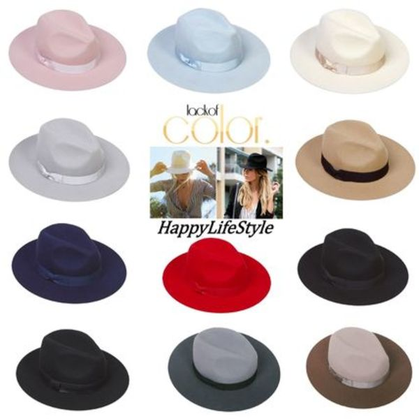 ★lack of color★fedora ハット 11カラー♪
