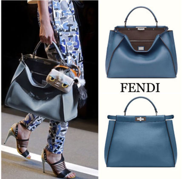 最新作☆FENDI☆PEEKABOO LARGE peacock-blue