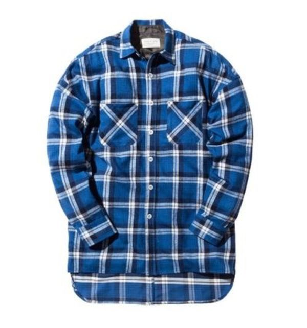 追跡有配送!! FEAR OF GOD - 4th Collection Flannel Shirt Blue
