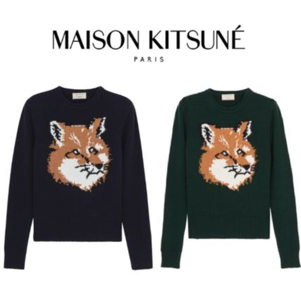 【関税・送料込】16AW MAISON KITSUNE Fox head ニット