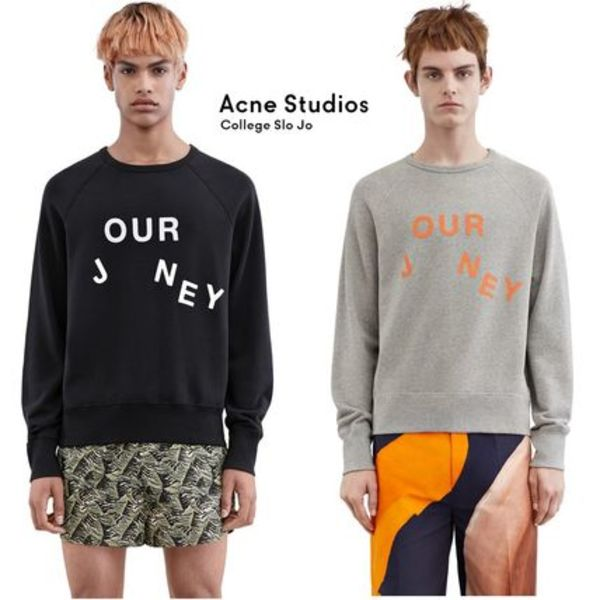 ACNE College Our journey スローガン入トレーナージャーニー2色
