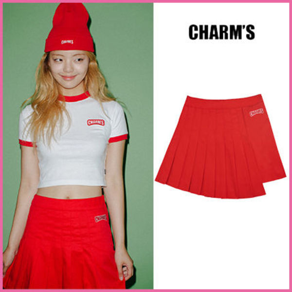 【CHARM'S】正規品★Red Velvet着用 MIX SKIRT /RD/追跡付