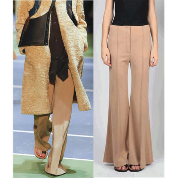 関税送料込CELINE2016WINTER LOOK30 TROUSERS CAMEL 日本未展開