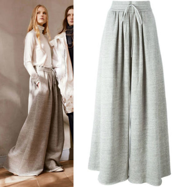 16-17AW C132 LOOK12 SOFT JERSEY WIDE LEG PANTS