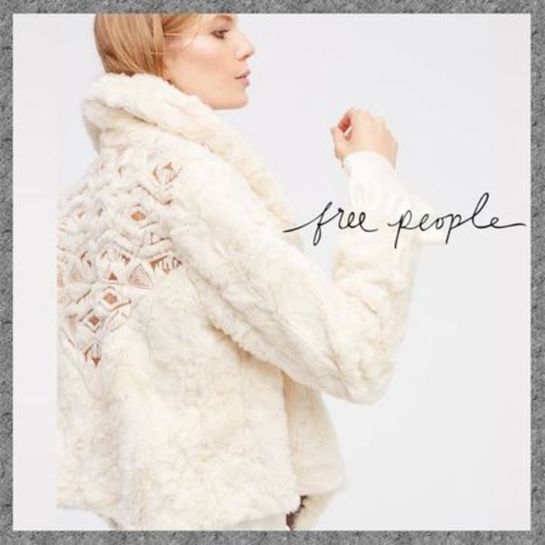 Free People◆刺繍&ファー◆ Embroidered Cascade Fur Jacket