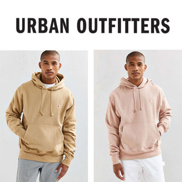 URBAN OUTFITTERS X CHAMPIONコラボユニセックスフーディー3色