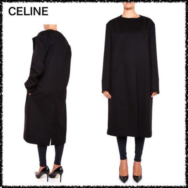 17AW新作 CELINE Double Face ウール カシミア コート 関税込