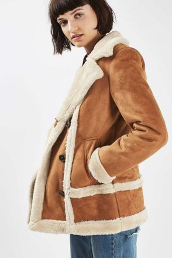 日本未入荷☆TOPSHOP☆Faux Fur Shearling Jacket