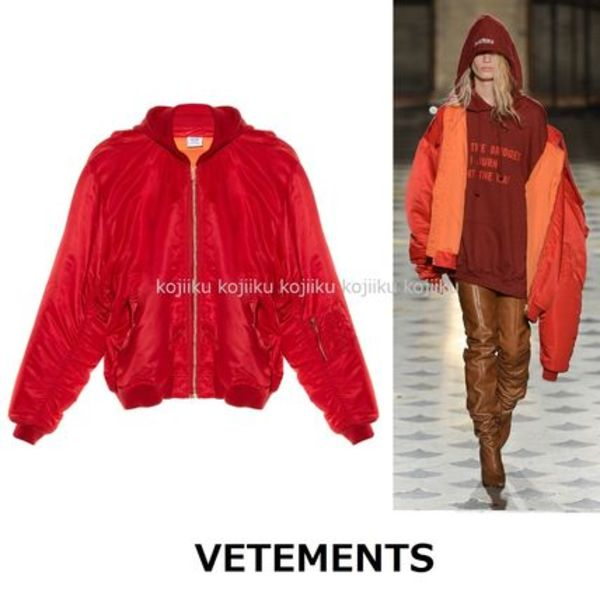 ▽国内発送・関税込▽VETEMENTS▽OversizedHoodedBomber Jacket