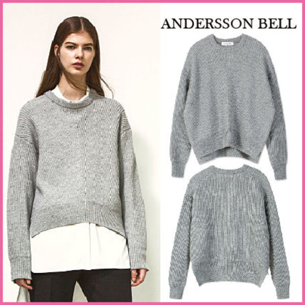 【ANDERSSON BELL】正規品★ BIRD ZIP SWEATER GREY/追跡付