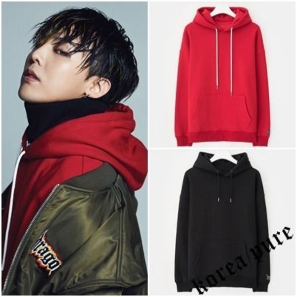 【8 X GD`s PICK]】 Lettering Hood Pullover_Red / Black