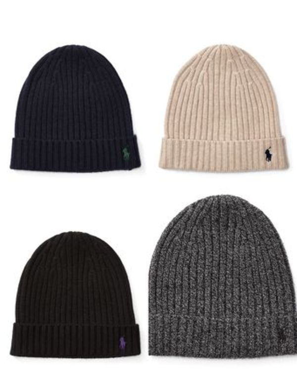 【セール】POLO Ribbed Cashmere-Wool Hat ニット帽