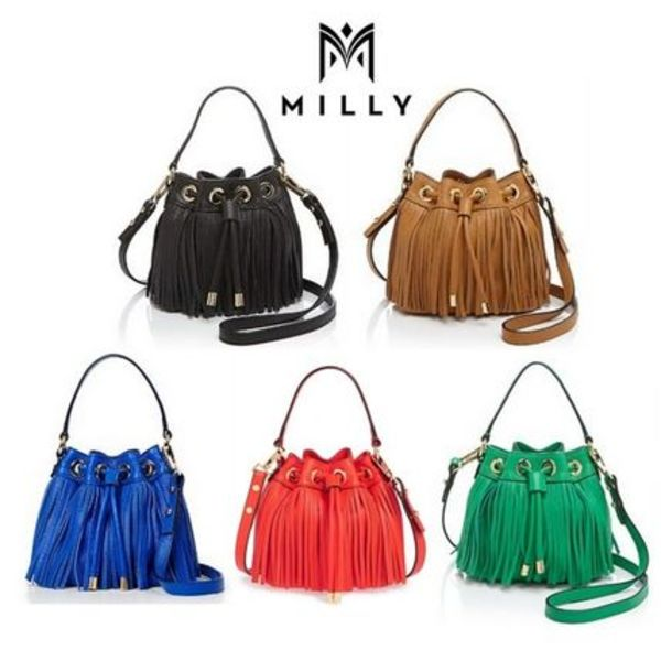 15SS★Milly Fringe draw string bag 5色 【関税/送料込】